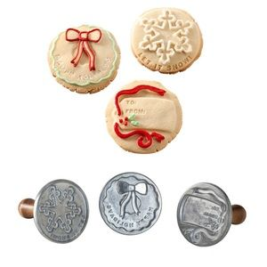 Nordic Ware holiday cookie stamps set of 3 NEW